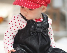 2012New-baby-autumn-winter-dress-suits-girl-Dot-bowknot-dress-baby-hats-jeans-vest-skirts-Long