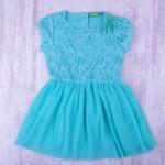 Детска рокля дантела и тюл